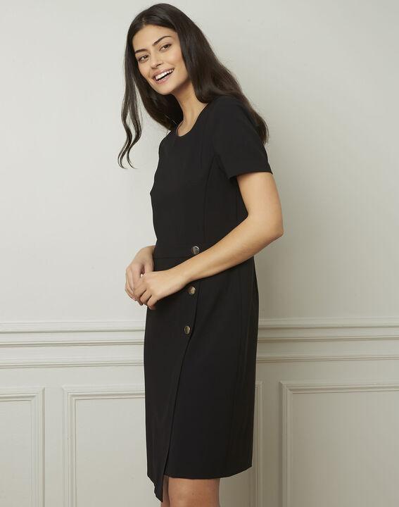 Schwarzes Kleid mit Knöpfen Lucia (2) - Maison 123