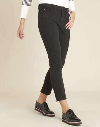 Opéra slim-cut black jeans with zip detailing black.