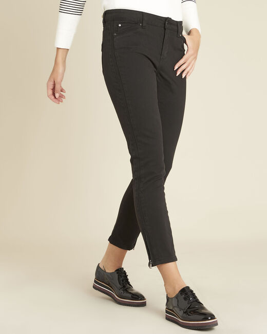 Opéra slim-cut black jeans with zip detailing (1) - 1-2-3