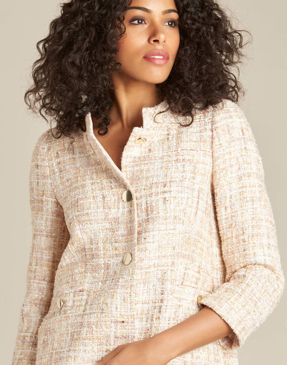 Cookie short cream tweed jacket (1) - 1-2-3
