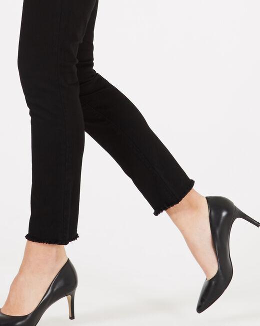 Schwarze Jeans mit Reißverschlüssen Germain (1) - 1-2-3