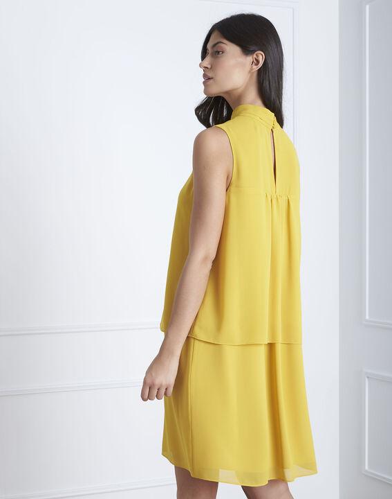 Robe jaune col montant Heloise (4) - Maison 123