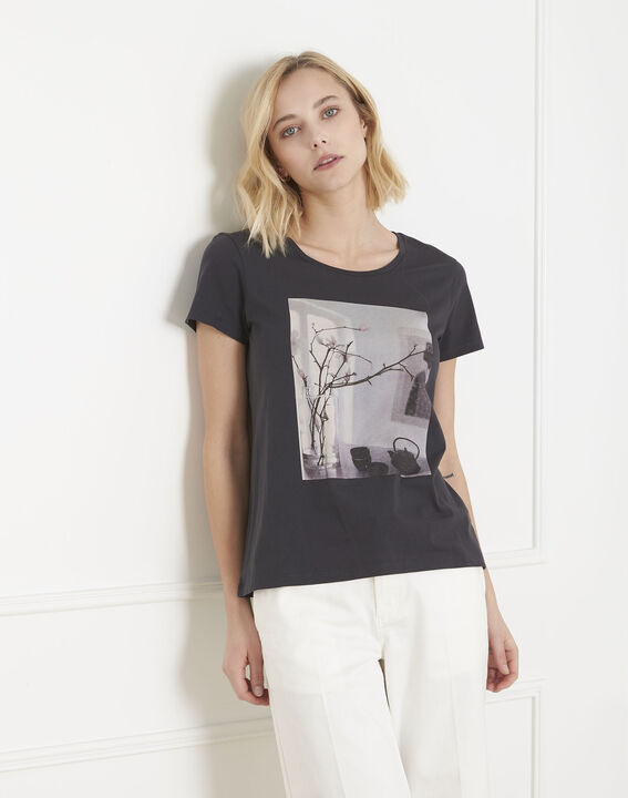 Tee-shirt gris imprimé Pueblo PhotoZ | 1-2-3
