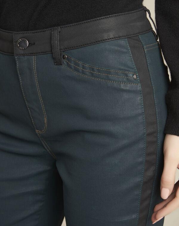 Groene jeans met zwarte stroken (2) - 37653