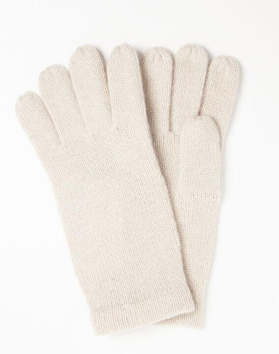 Ustavio pale pink cashmere gloves (2) - 1-2-3