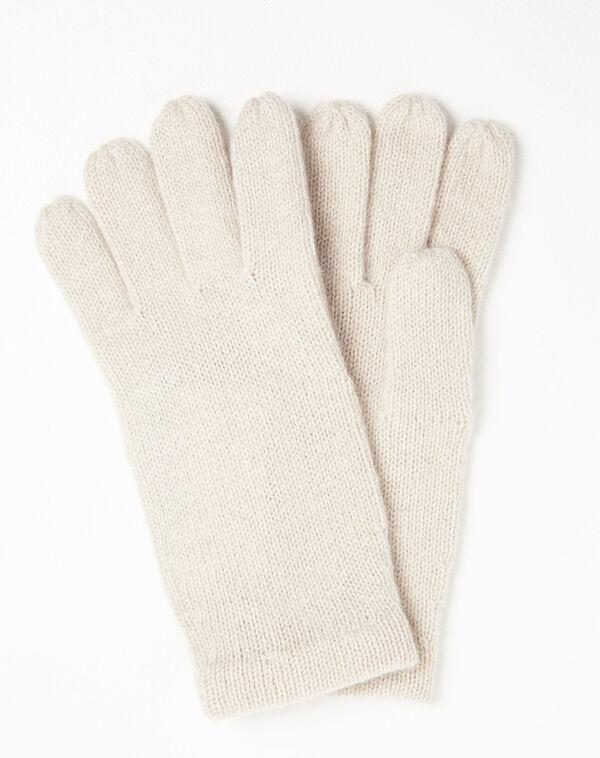 Ustavio pale pink cashmere gloves (1) - 1-2-3
