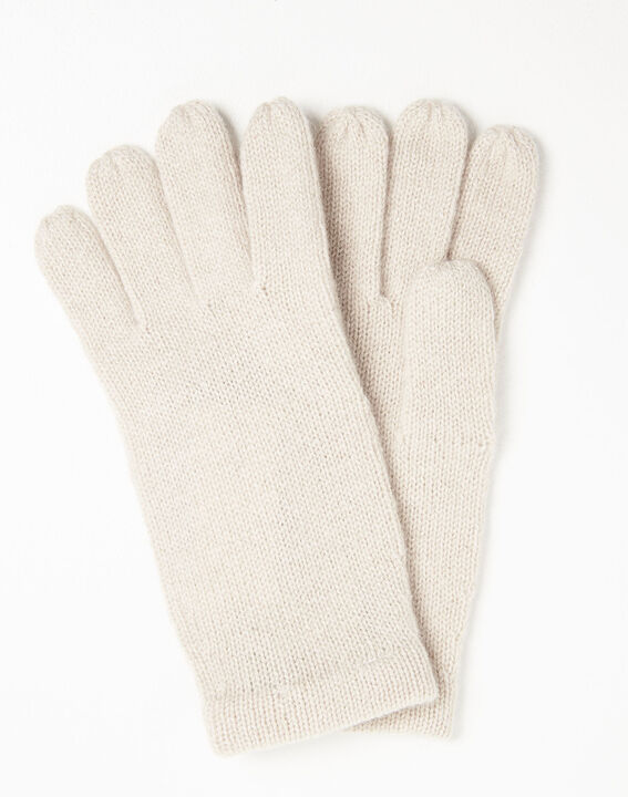 Ustavio pale pink cashmere gloves PhotoZ | 1-2-3