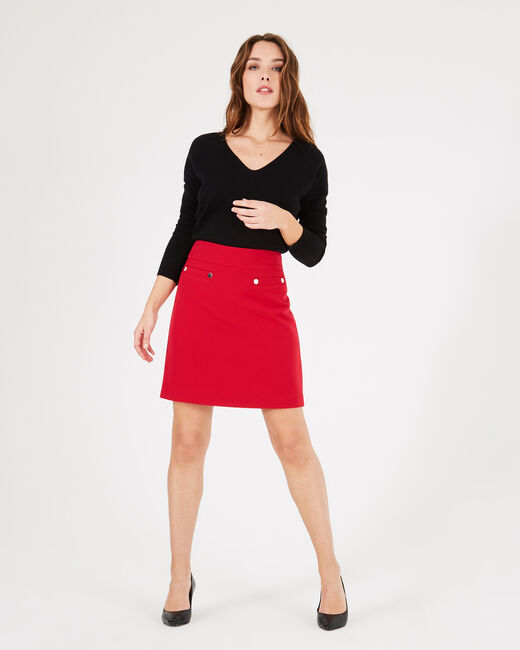 Fama red skirt with studs (1) - 1-2-3
