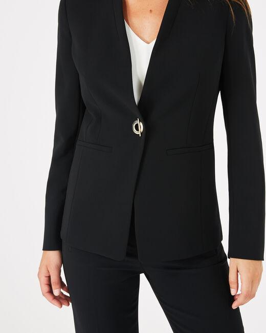 Veste de tailleur noire mi-longue Majeste (1) - 1-2-3