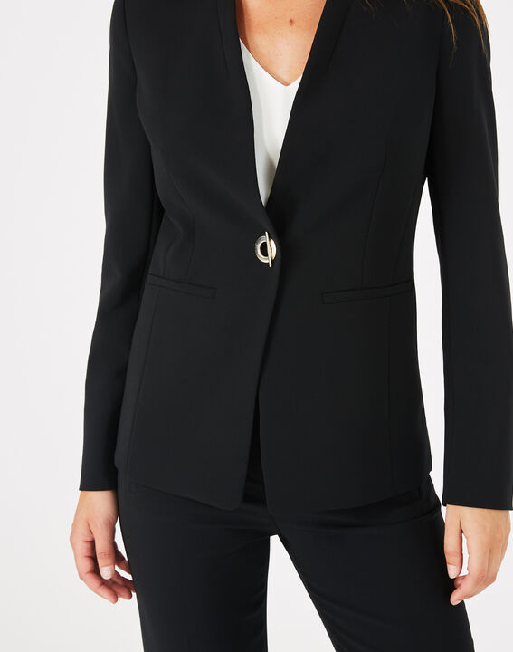 Majeste black mid-length tailored jacket PhotoZ | 1-2-3