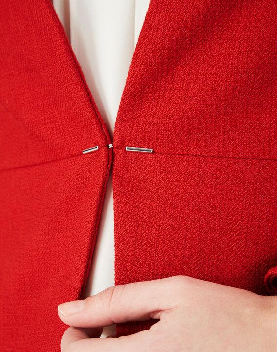 Veste rouge en coton mélangé Margot (4) - 1-2-3