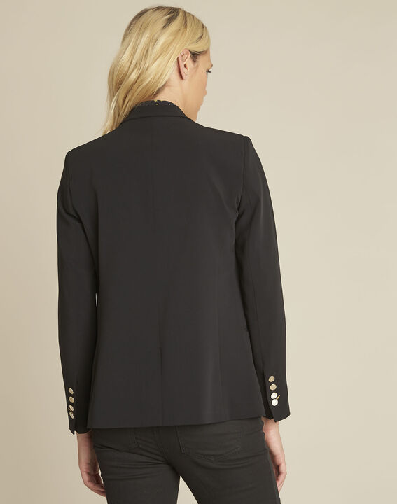 Soho black jacket with gold-look buttons (4) - 1-2-3