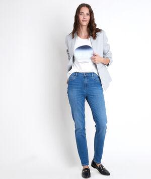 De iconische stone slim-fit jeans met used effect Suzy