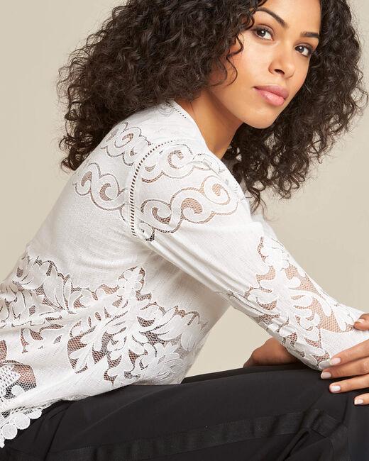 Gabin ecru lace blouse (2) - 1-2-3