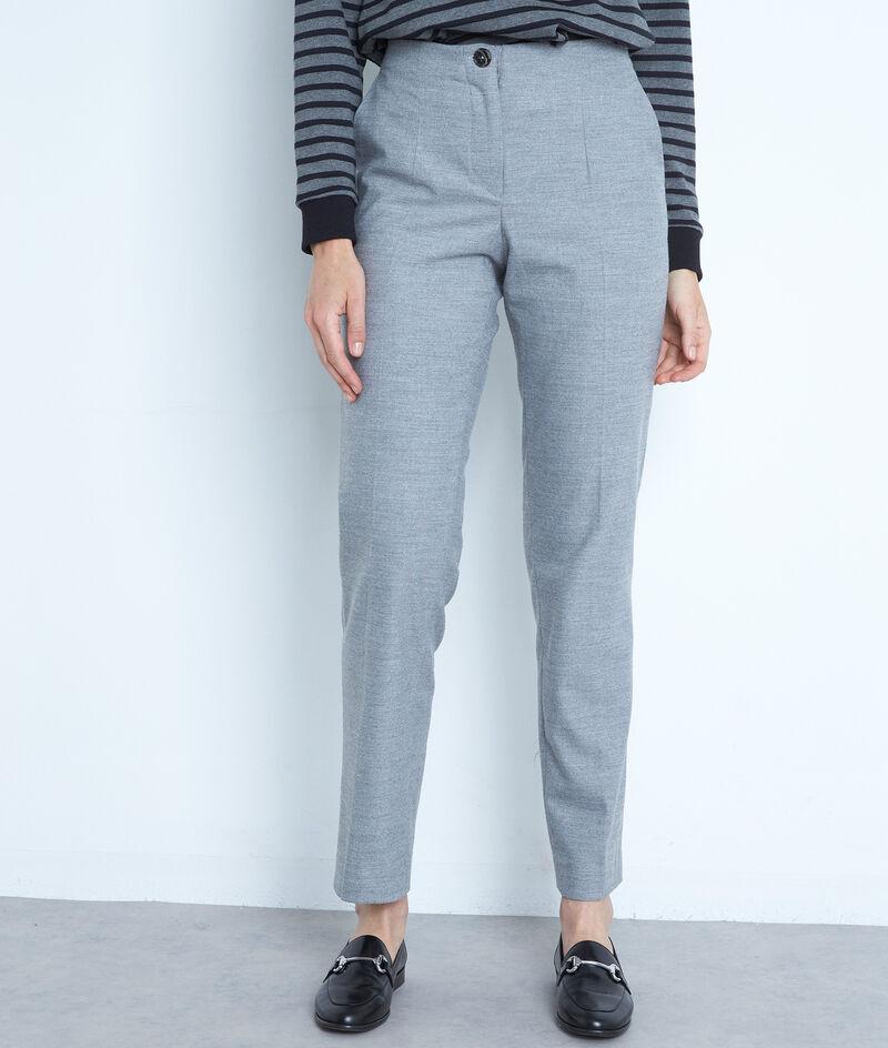Pantalon de tailleur cigarette gris Dahlia PhotoZ | 1-2-3