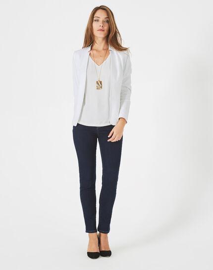 Veste blanche piquée Bea (1) - 1-2-3