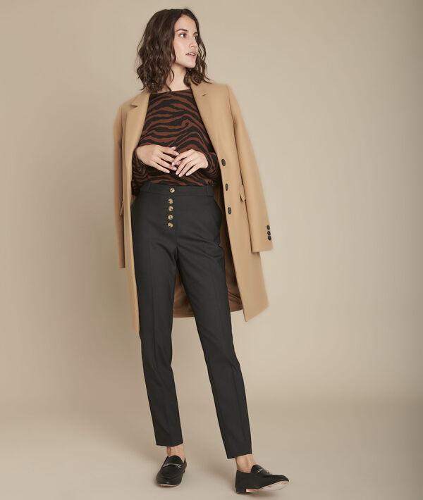 Pantalon cigarette noir Elix PhotoZ | 1-2-3