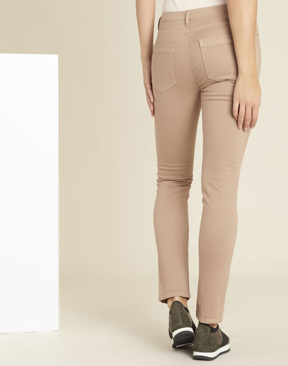Germain pink straight-cut jeans with zipped pockets (4) - 1-2-3