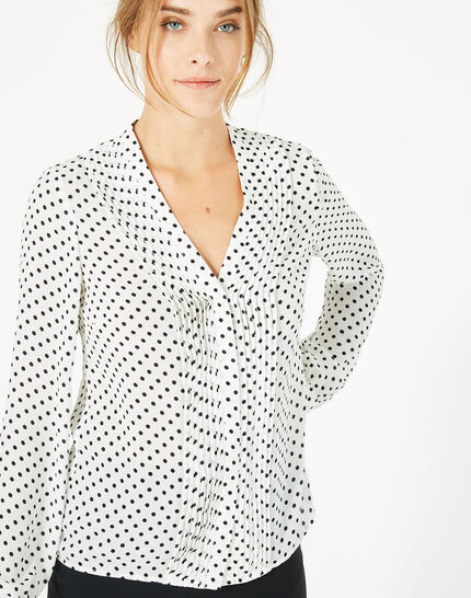 Doris bis white blouse with polka dots (3) - 1-2-3
