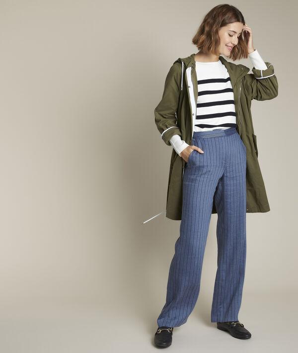 Pantalon large rayé en lin et Lyocell Ioan PhotoZ | 1-2-3