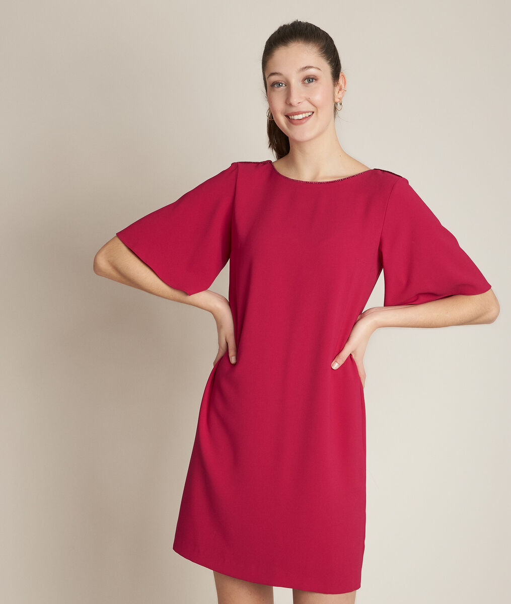Robe vermillon droite Celia PhotoZ   1-2-3