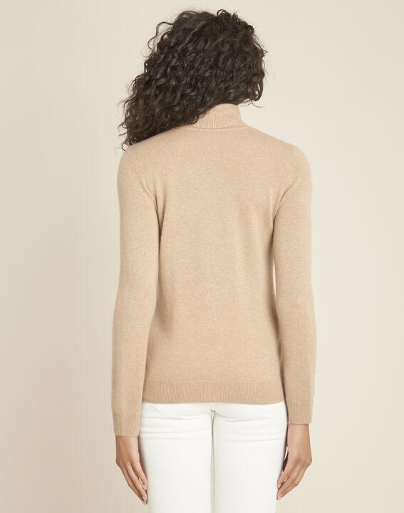 Perceneige camel polo-neck cashmere sweater (4) - 1-2-3