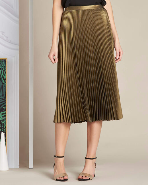 Lore long golden pleated skirt (2) - 1-2-3