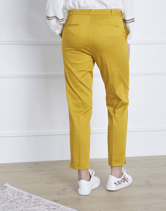 Pantalon jaune cigarette Rubis (4) - 1-2-3