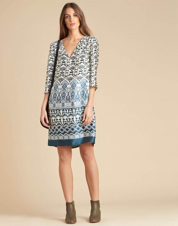 Passiflore blue printed dress (2) - 1-2-3