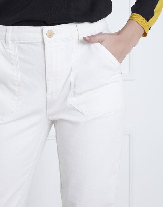 Cremeweiße 7/8 Boyfriend-Jeans Coconut (3) - Maison 123