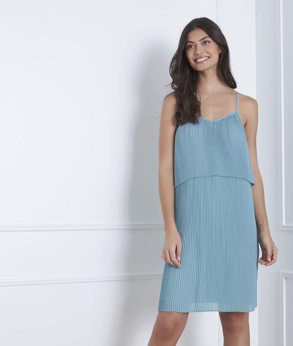 Blauwe geplooide jurk Harlette PhotoZ | 1-2-3