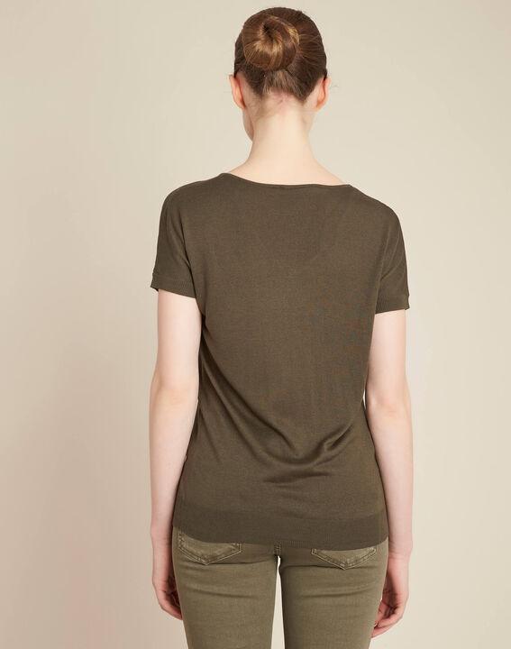 Never khaki, fine-knit sweater with openwork neckline (4) - 1-2-3