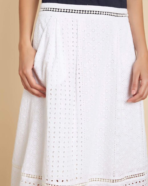 Lumiere embroidered white cotton skirt (1) - 1-2-3