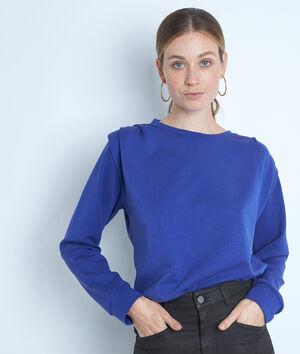 Sweat-shirt à épaulettes bleu électrique Ice