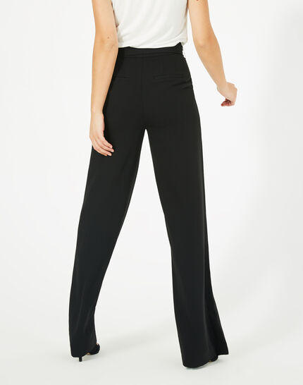 Voyou tailored black trousers with belt (5) - 1-2-3