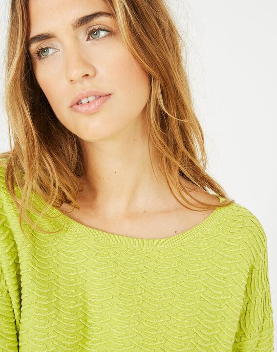 Pop yellow sweater with stunning stitchwork (2) - 1-2-3