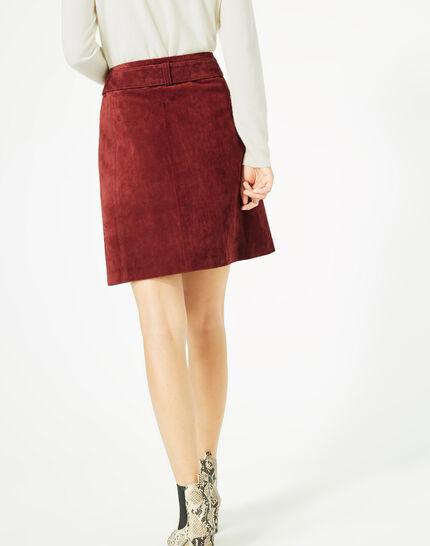 Diapo burgundy leather skirt (5) - 1-2-3