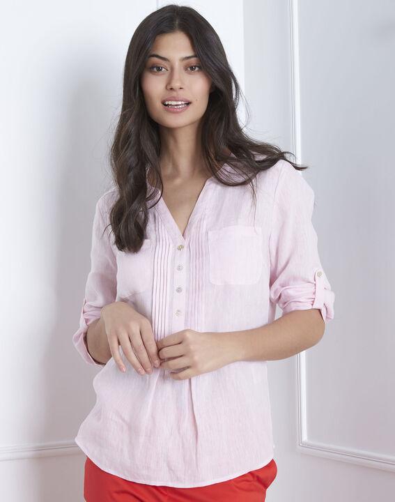 Roze hemd van linnen Roma (1) - Maison 123