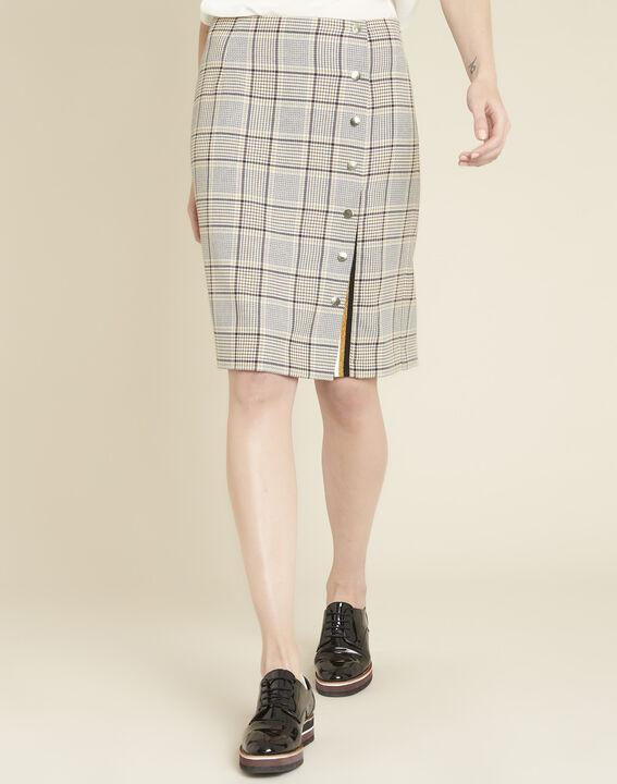 Abel check skirt with side slit PhotoZ | 1-2-3