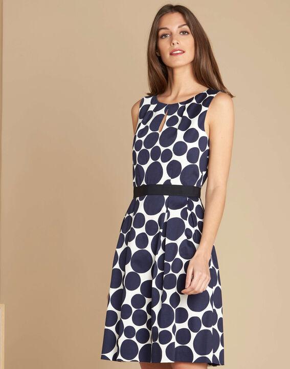 Isis blue polka dot printed dress (3) - 1-2-3