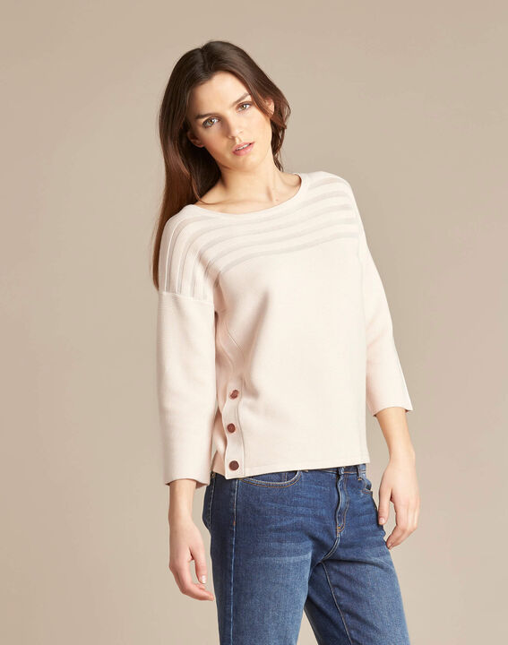 Hypnose pale pink sweater with sheer stripes (3) - 1-2-3
