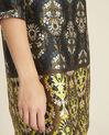Robe noire imprimée fleuri Destin (2) - 1-2-3
