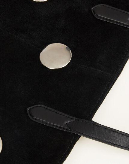 Cabas noir à pois argentés Romane (3) - 1-2-3