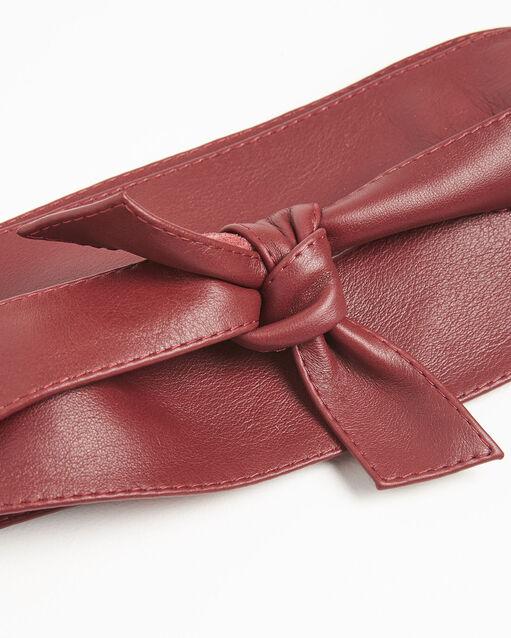 Ceinture large rubis en cuir Raul (2) - 1-2-3