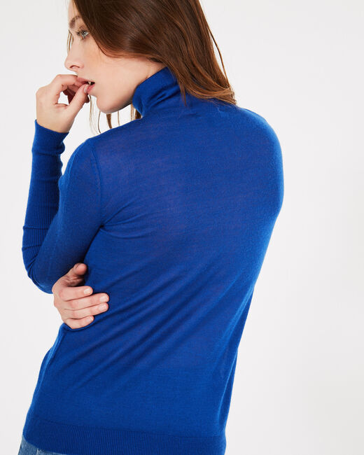 Pomme royal blue polo-neck sweater (2) - 1-2-3