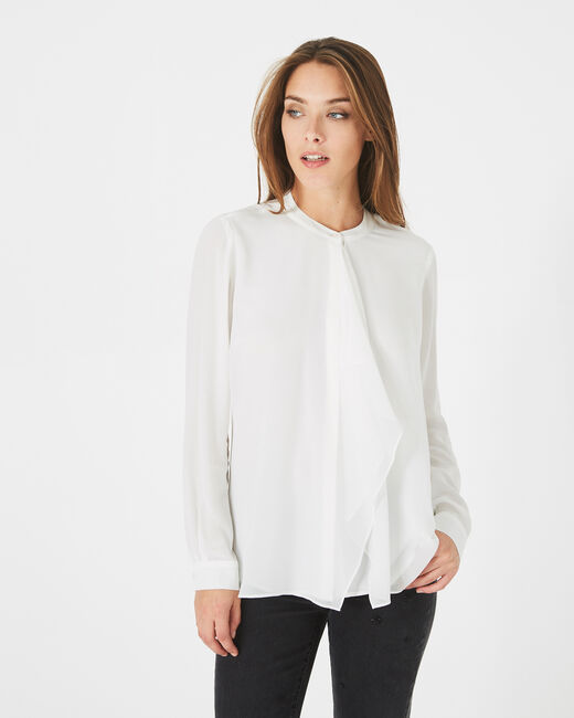 Danika off-white frilly blouse (2) - 1-2-3
