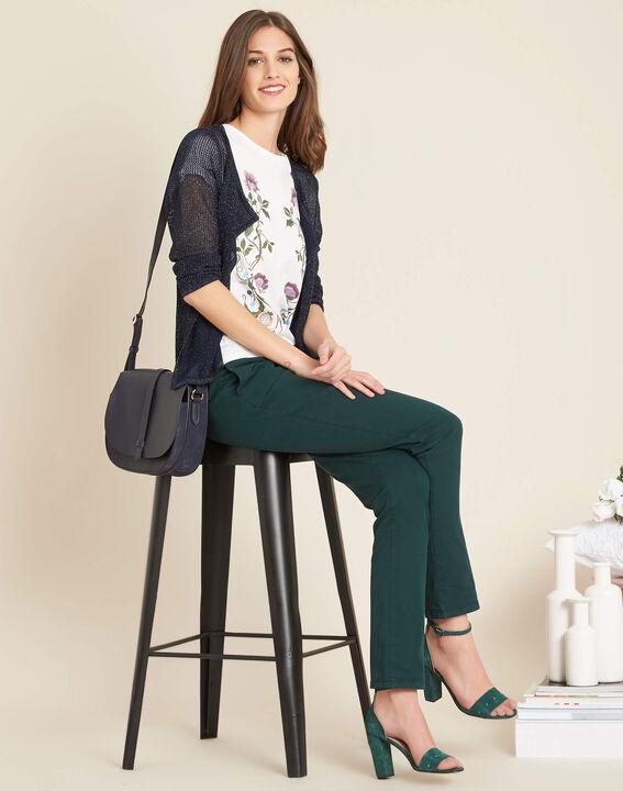 Noisette fine-knit navy cardigan (2) - 1-2-3
