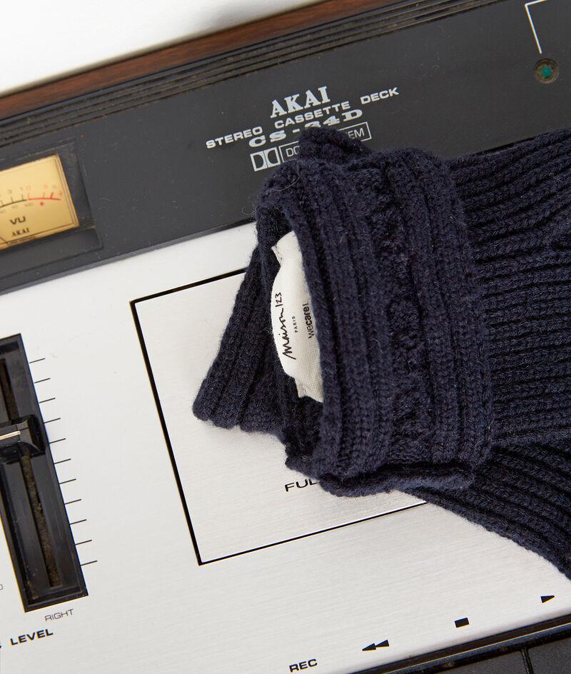 Gants en laine recyclée marine Willy PhotoZ | 1-2-3