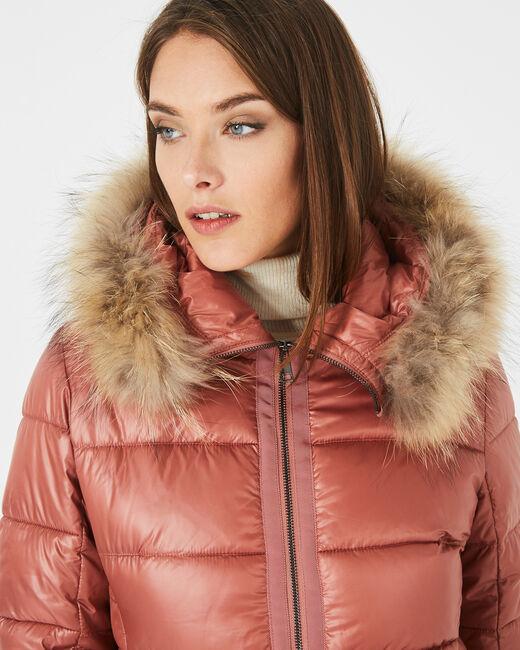 Lena short, old rose puffer jacket (2) - 1-2-3