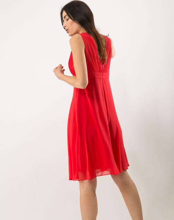 Robe rouge en soie Loulou (4) - 1-2-3